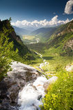 Beautiful walley. In Caucasus mountains in Upper Svaneti, Georgia Stock Photos