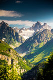 Beautiful walley in Caucasus mountains. In Upper Svaneti, Georgia Royalty Free Stock Image