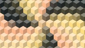 Beautiful wallpaper banner with, Abstract design, geometric Patterns, Cubes, Black and yellow shades Texture. An Illustration Beautiful wallpaper banner with vector illustration