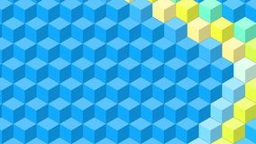 Beautiful wallpaper banner with, Abstract design, geometric Patterns, Cubes, Blue Texture. An Illustration Beautiful wallpaper banner with, Abstract design stock illustration