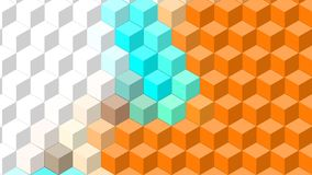 Beautiful wallpaper banner with, Abstract design, geometric Patterns, Cubes, Orange, white, Blue Texture. An Illustration Beautiful wallpaper banner with vector illustration