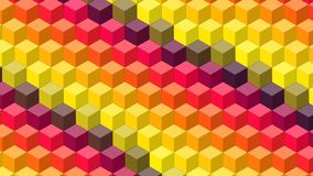 Beautiful wallpaper banner with, Abstract design, geometric Patterns, Cubes, Yellow Purple Red Texture. An Illustration Beautiful wallpaper banner with, Abstract royalty free illustration