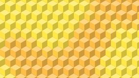 Beautiful wallpaper banner with, Abstract design, geometric Patterns, Cubes, Yellow Texture. An Illustration Beautiful wallpaper banner with, Abstract design vector illustration