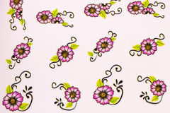 Beautiful wallpaper with crimson flowers. On a white background as a screen saver stock images