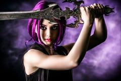 Beautiful warrior Stock Image