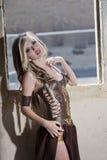 Beautiful warrior princess Royalty Free Stock Image