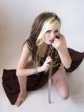 Beautiful warrior princess Stock Photos