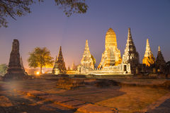 Beautiful Wat Chai Watthanaram temple in ayutthaya Thailand Stock Images