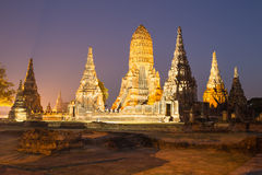 Beautiful Wat Chai Watthanaram temple in ayutthaya Thailand Stock Photos