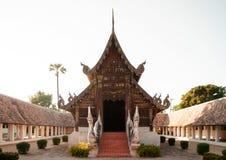 Beautiful Wat Ton Kwen wooden buddha hall, Chiang Mai , Thailand. Beautiful Lanna architecture of Wat Ton Kwen wooden buddha hall, Chiang Mai , Thailand Stock Image