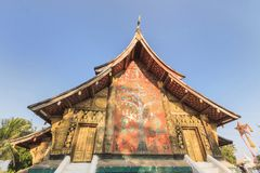 Beautiful Wat Xieng thong temple,Luang Pra bang, Laos. Royalty Free Stock Photo