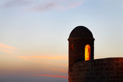 Beautiful watch tower during dusk Royalty Free Stock Image