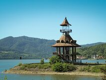 Free Beautiful Watchtower On Danube River Shore, In Orsova, Romania. Royalty Free Stock Photo - 220484315