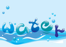 Beautiful water background Royalty Free Stock Images