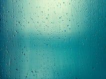 Beautiful water drops on glass Stock Image