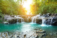 Beautiful water fall in thailand Royalty Free Stock Images