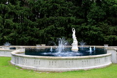 Beautiful water fountain and statues,Yaddo Gardens,Saratoga Springs,New York,2014 Stock Photos