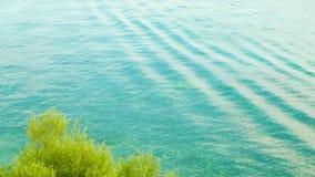 Beautiful water of Lake Ochrid as nature background. stock photo