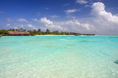Beautiful water in maldives royalty free stock image