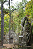 Beautiful water mill in the trees Stock Images