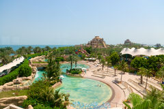 Beautiful water park at Atlantis, the Palm Luxury Resort Hotel Stock Image