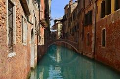 Beautiful water street - Venice, Italy Royalty Free Stock Photos