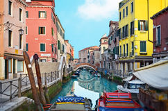 Beautiful water street - Venice, Italy Royalty Free Stock Photography