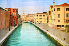 Beautiful water street - Venice, Italy Stock Image
