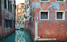 Beautiful water street - Venice, Italy Stock Photos