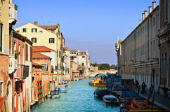 Beautiful water street - Venice, Italy Royalty Free Stock Photos