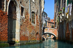 Beautiful water street - Venice, Italy Royalty Free Stock Photo