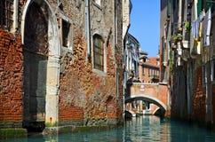 Beautiful water street - Venice, Italy Royalty Free Stock Photo
