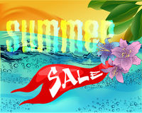 Beautiful water surface illustration summer sale Royalty Free Stock Image