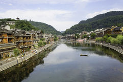 A beautiful water town Royalty Free Stock Images