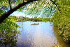Beautiful water view in New Zealand. Royalty Free Stock Image