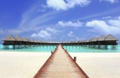 Beautiful water villa Stock Images