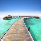 Beautiful water villa on the sea Stock Photo