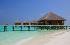 Beautiful water villa on the sea. maldives Stock Images