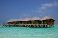 Beautiful water villa on the sea. maldives Royalty Free Stock Image