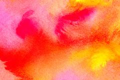 Beautiful watercolor background in vibrant orange pink red yellow. Great for textures and backgrounds for your projects and style