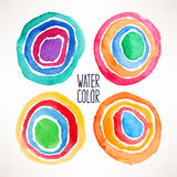 Beautiful watercolor circles Royalty Free Stock Photos