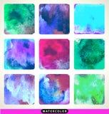 Beautiful watercolor design elements. Vector Stock Photography