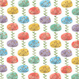 Beautiful watercolor flower background Royalty Free Stock Images