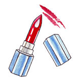 Beautiful Watercolor Lipstick. Stock Images