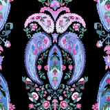 Beautiful Watercolor paisley seamless pattern Royalty Free Stock Photo