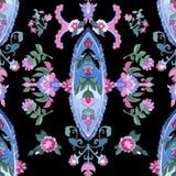 Beautiful Watercolor paisley seamless pattern Stock Image
