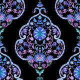 Beautiful Watercolor paisley seamless pattern Royalty Free Stock Image