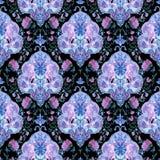 Beautiful Watercolor paisley seamless pattern Royalty Free Stock Image