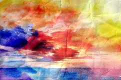Beautiful watercolor palm trees Stock Images