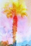 Beautiful watercolor palm trees Royalty Free Stock Photo